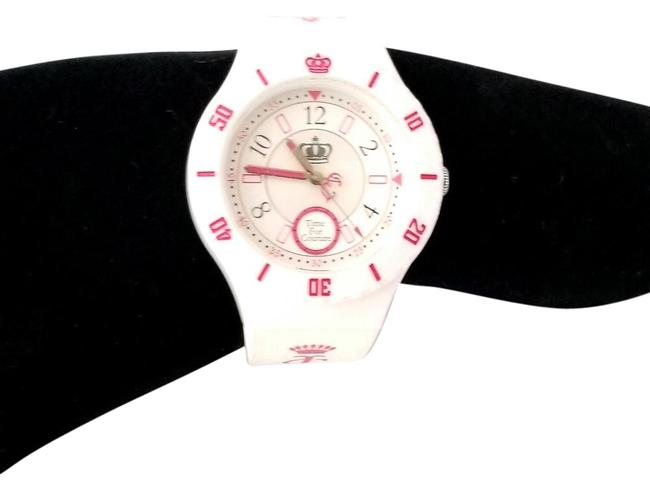 Item - White Time For and Pink Rubber Wristband Watch