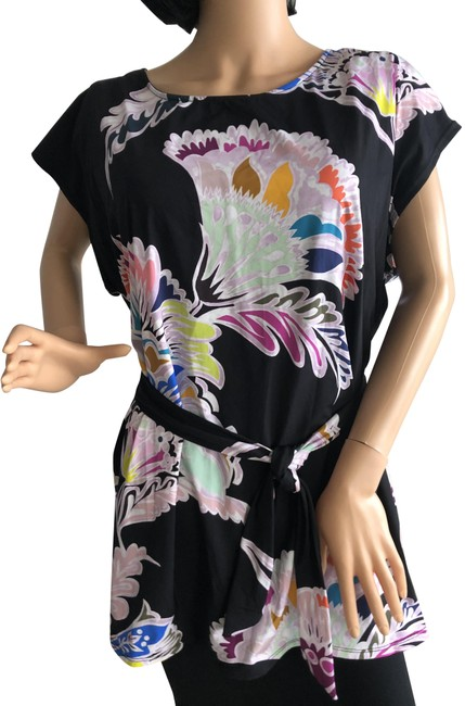 Item - Black Belted Cover-up/Sarong Size 6 (S)