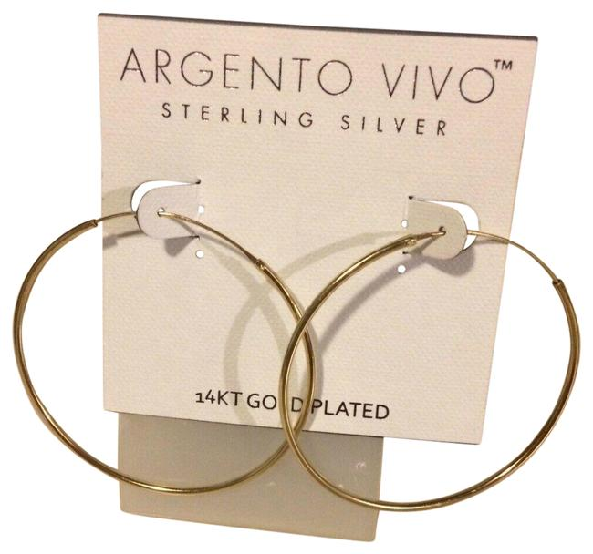 Item - 1/2 Inches Sterling Silver .925 With14k Go Earrings
