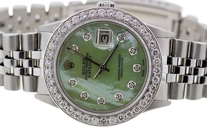 Rolex ROLEX DATEJUST S/S 2.5 CT DIAMONDS WATCH WITH ROLEX BOX & APPRAISAL