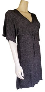 Max Studio short dress Gray Cotton Blend Knit Mini on Tradesy