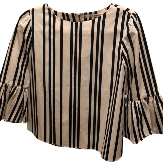 Item - Black Striped Blouse Size 6 (S)