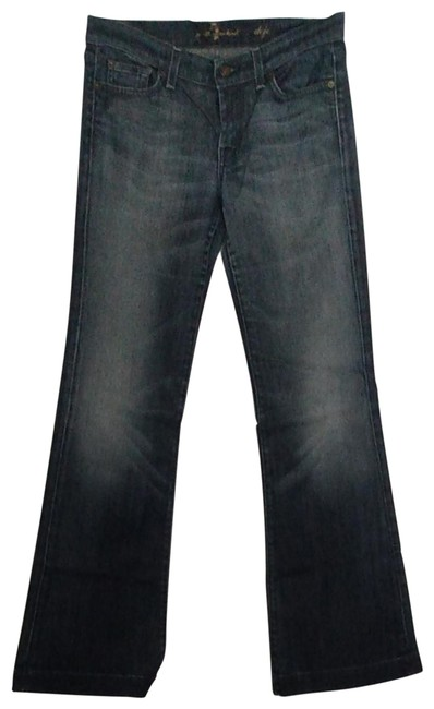 Item - Mid To Dark Blue Distressed U115447s-447s Trouser/Wide Leg Jeans Size 30 (6, M)