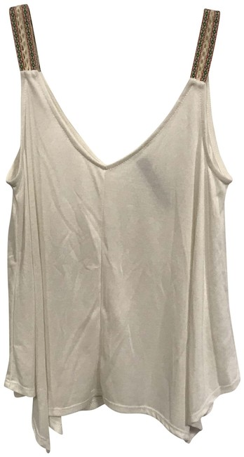 Item - White Embroidered Strap Tank Top/Cami Size 2 (XS)