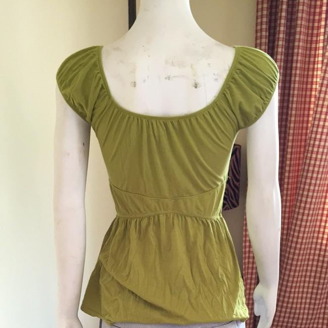 Anthropologie Top Chartreuse