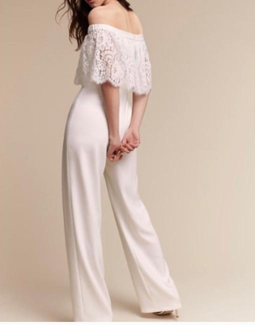 Item - White Unknown Theia Jumpsuit Shower Engagment Modern Wedding Dress Size 10 (M)