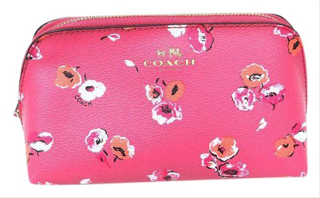 Item - Floral Print Pouch F65441 Ladies Pink Pvc Clutch