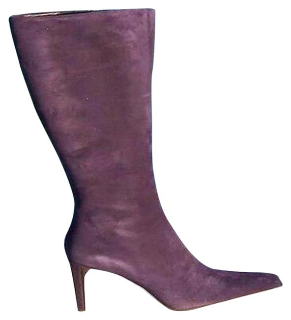 Item - Purple Couture Suede Leather Full Zipper New Boots/Booties Size US 8.5 Regular (M, B)