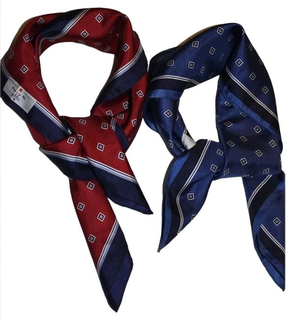 Item - Red/Blue Rare Silk Exclusively For Amr (American Airlines) Scarf/Wrap