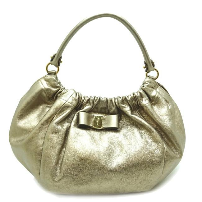 Item - Bag Vala Ladies Ab-21 C786 Pink Gold Leather Tote