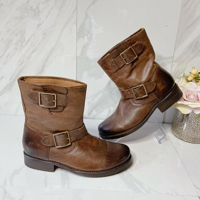Frye Brown Vicky Engineer Boots/Booties Size US 7 Regular (M, B) Frye Brown Vicky Engineer Boots/Booties Size US 7 Regular (M, B) Image 2