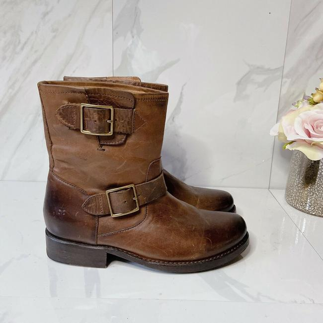Frye Brown Vicky Engineer Boots/Booties Size US 7 Regular (M, B) Frye Brown Vicky Engineer Boots/Booties Size US 7 Regular (M, B) Image 3