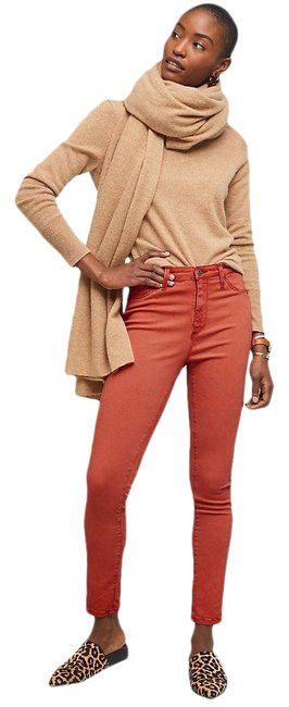 Item - Rust Orange Red Coated High Rise Abby Ankle Skinny Jeans Size 12 (L, 32, 33)