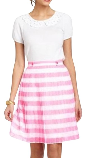 Item - Pink White Virginia Pleated Striped Skirt Size 0 (XS, 25)