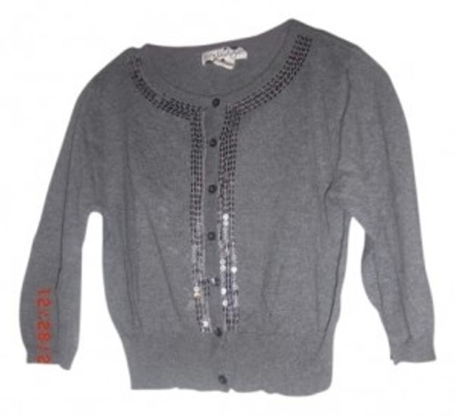 Preload https://item4.tradesy.com/images/greysilver-cropped-sequin-cardigan-size-10-m-28163-0-0.jpg?width=400&height=650
