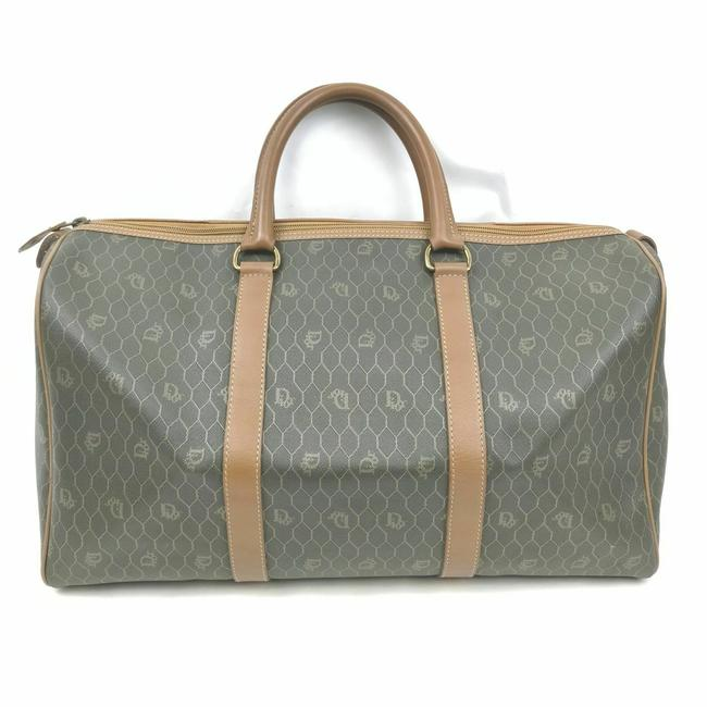 Item - Duffle Black X Monogram Trotter Oblique Boston 861439 Brown Coated Canvas Weekend/Travel Bag