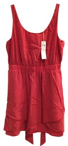 BCBGeneration short dress Coral Sleeveless Elastic Waist on Tradesy