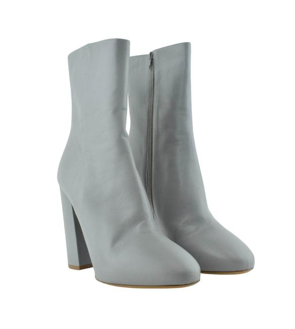 Item - Grey Leather Boots/Booties Size EU 42 (Approx. US 12) Regular (M, B)
