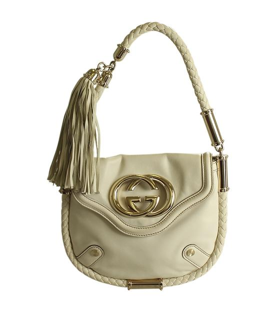 Item - Britt 167733 (190972) Cream Leather Hobo Bag