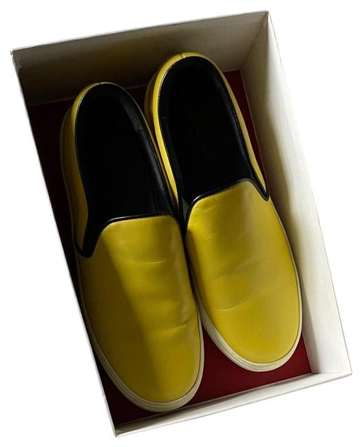 Item - Yellow Leather Sneakers Size EU 38 (Approx. US 8) Regular (M, B)