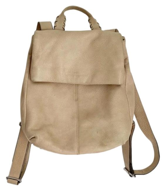 Item - Fold Over Tan Leather Backpack
