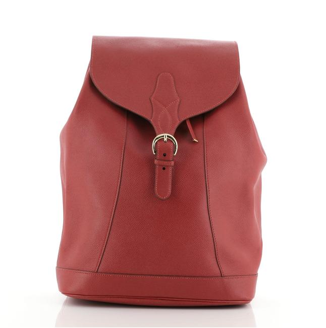 Item - Isabel Courchevel Red Canvas Backpack