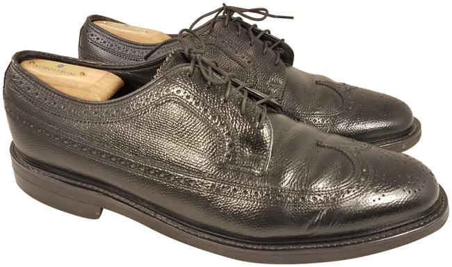 Item - Black Imperial Man Oxfords Longwing Pebbled Leather 3e Formal Shoes Size US 10.5 Extra Wide (Ww, Ee)