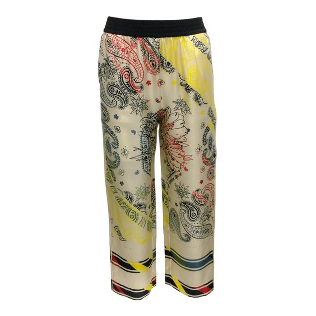 Item - Ivory / Multi Silk Jogger Pants Size 6 (S, 28)