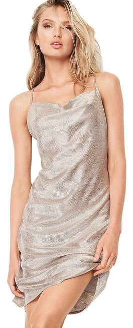 Item - Metallic Dream Angel Satin Slip Mid-length Night Out Dress Size 4 (S)