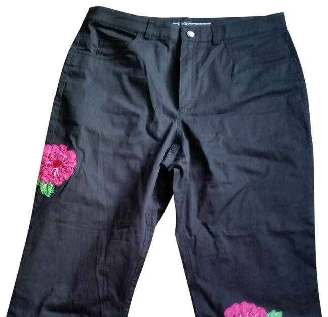 Item - Black Dark Rinse Capri/Cropped Jeans Size 36 (14, L)