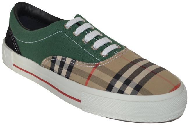 Item - Beige / Green Mens Archive Calf Suede Cotton Vintage Check Sneakers Size US 12 Regular (M, B)