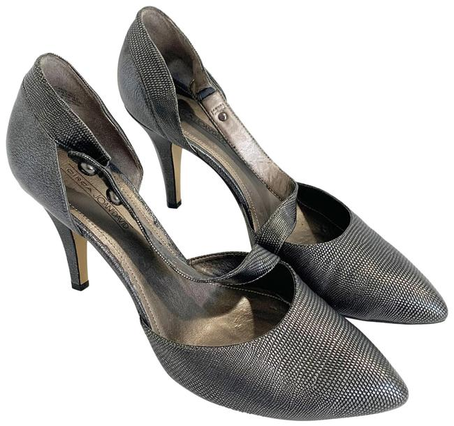 Item - Pewter And Canberra Reptile D'orsay Women's Pumps Size US 11 Regular (M, B)