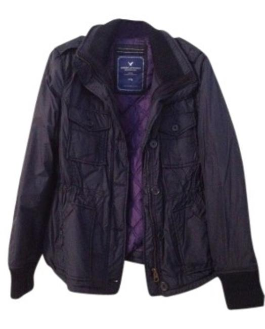 Preload https://img-static.tradesy.com/item/28165/american-eagle-outfitters-navy-w-purple-interior-cotton-collared-raincoat-size-16-xl-plus-0x-0-0-650-650.jpg