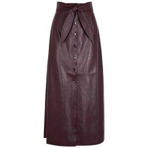 Item - Purple Faux Leather Skirt