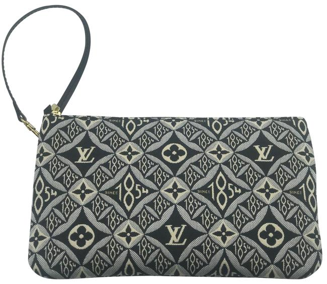 Item - Neverfull Pochette Clutch Pouch Mm Black Grey Monogram Since 1854 Textile Sold Out Limited Edition Jacquard Wristlet
