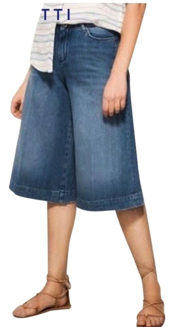 Item - Blue Cropped Gauchos 4 S Small Maternity Denim Size 27 (4, S)