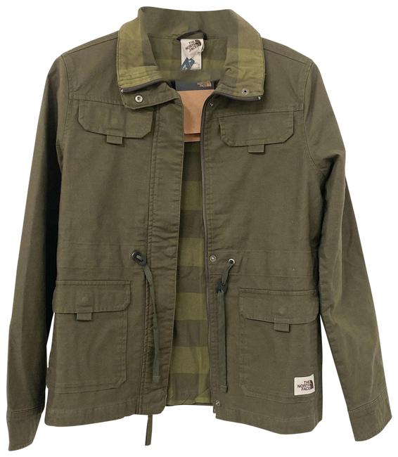 The North Face New Taupe Green Contrast Plaid Hunter Jacket Size 2 (XS) The North Face New Taupe Green Contrast Plaid Hunter Jacket Size 2 (XS) Image 1