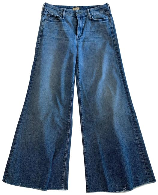 Item - Fingerprints and Muddy Feet Medium Wash The Roller Ankle Fray Trouser/Wide Leg Jeans Size 4 (S, 27)