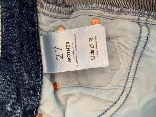 Mother Fingerprints and Muddy Feet Medium Wash The Roller Ankle Fray Trouser/Wide Leg Jeans Size 4 (S, 27) Mother Fingerprints and Muddy Feet Medium Wash The Roller Ankle Fray Trouser/Wide Leg Jeans Size 4 (S, 27) Image 5