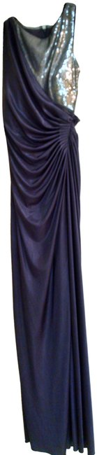 Item - Dark Purple and Silver Sleeveless Long Cocktail Dress Size 2 (XS)