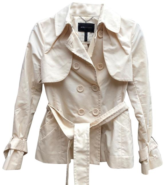 Item - Ivory Short Belted Double Breasted Coat Size 2 (XS)