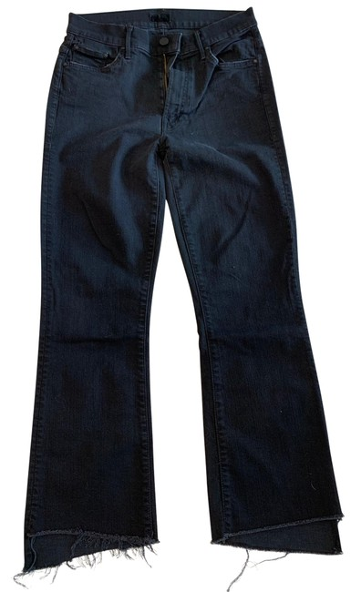 Item - Not Guilty Faded Black Dark Rinse The Insider Crop Step Fray Capri/Cropped Jeans Size 4 (S, 27)