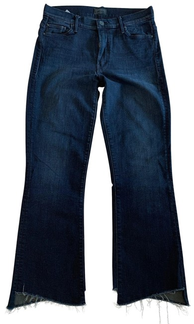 Item - Hey Good Lookin Dark Rinse The Insider Crop Step Fray Capri/Cropped Jeans Size 4 (S, 27)