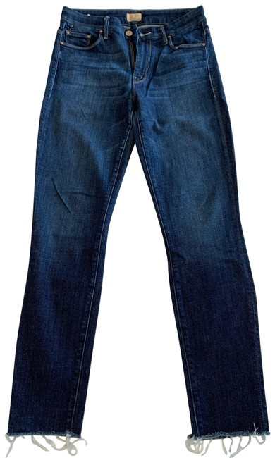 Item - Clean Sweep Medium Wash High Waisted Looker Ankle Fray Skinny Jeans Size 4 (S, 27)