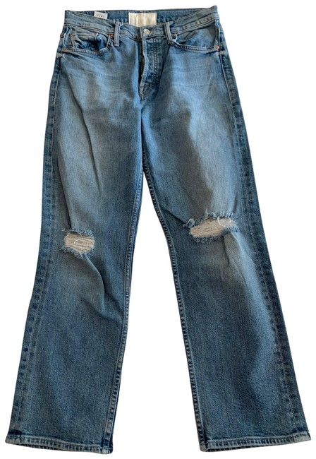 Item - The Problem with Miracles Medium Wash Tomcat Ankle Straight Leg Jeans Size 8 (M, 29, 30)