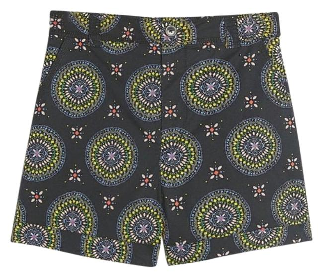 Item - Black Motif Abstract City Shorts Size 2 (XS, 26)
