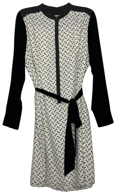 Item - Black and White Dr Puno Short Work/Office Dress Size 12 (L)