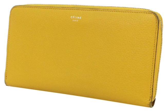 Item - Yellow Leather Round Zipper Ladies Wallet