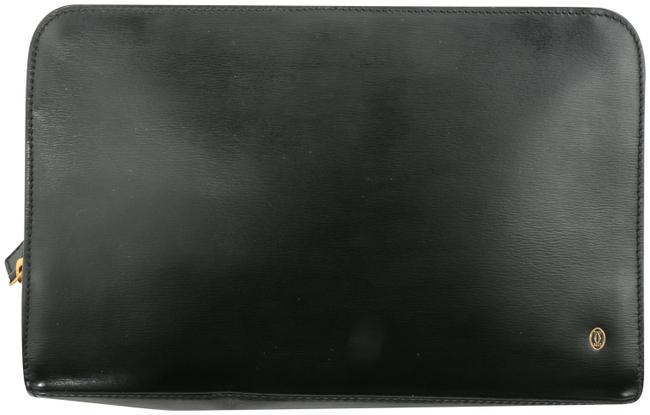 Item - Clutch Zippered Black Leather Weekend/Travel Bag