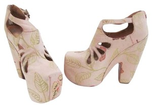 Jeffrey Campbell Zipper Butterfly Adjustable Straps Multi Platforms
